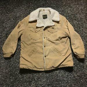 Wrangler Men Navy Corduroy Sherpa Lined Jacket